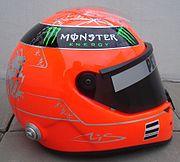 Schumacher 2011 helmet