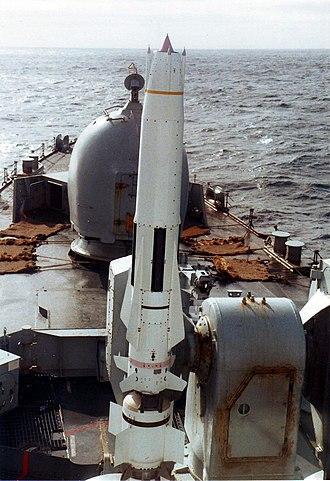 Sea Dart - Image: Sea Dart missile HMS Cardiff 1982