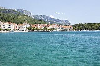 Makarska City in Split-Dalmatia, Croatia