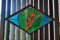 Seattle - Sephardic Bikur Holim Congregation - stained glass at entrance 02.jpg