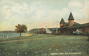 Mountain Division - Sebago Lake Station in 1907, Standish