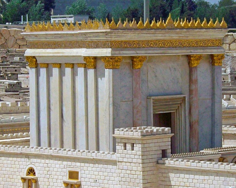 Second Temple in model Jerusalem at Israel Museum