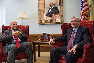 Cory Booker - Booker with Judge Merrick Garland, 2016