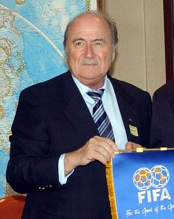 English: Joseph Blatter, FIFA's presidend
