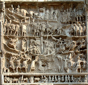 Roman–Parthian Wars - Relief of the Roman-Parthian wars at the Arch of Septimius Severus, Rome