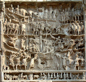 Roman–Persian Wars - Reliefs depicting war with Parthia on the Arch of Septimius Severus, built to commemorate the Roman victories