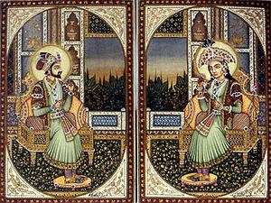 Shah Jahan - Shah Jahan and Mumtaz Mahal