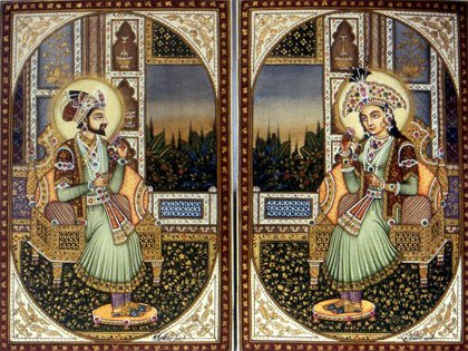 Shah Jahan and Mumtaz Mahal