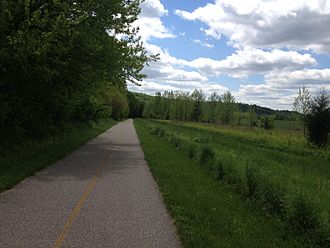 Miami Whitewater Forest - Shaker Trace trail, the longest trail in the park, allows pedestrians, bicyclist, and horseback riding.
