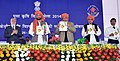 Sharad Pawar made the announcement of establishment of Rani Lakshmibai Central Agricultural University at Jhansi, UP, at a function, in New Delhi. The Minister of State for Rural Development.jpg