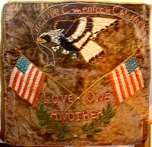 Oklahoma History Center - Image: Shawnee NAC altar cloth OHS