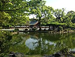 Shinjiike Pond and Chozuya of Munakata Grand Shrine (Hetsu Shrine).JPG