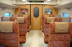 800 Series Shinkansen - 800 series interior
