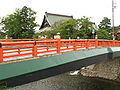 Shinshu-ji and a bridge in Furukawa.jpg