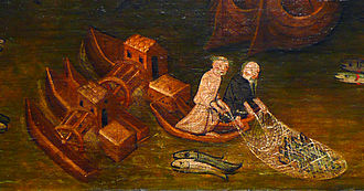 Ship mill - German ship mills on the Rhine at Cologne, around 1411.