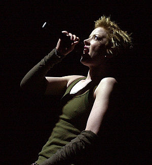 Garbage (band) - Shirley Manson performing live at Voodoo Festival 2002