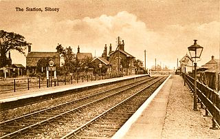 Sibsey railway station Former railway station in Lincolnshire, England