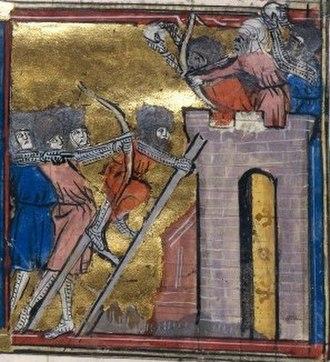 Niš - Siege of Niš, Crusaders attacking Niš on 4 July 1096.