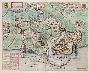 Siege of Geertruidenberg (1593) - Image: Siege of St. Geertruidenberg by Maurice of Orange in 1595 Obsidio St. Geertrvydenberg'