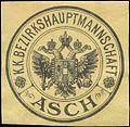 Siegelmarke K.K. Bezirkshauptmannschaft Asch W0322959.jpg