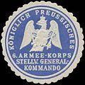 Siegelmarke K.Pr. 6. Armee-Korps Stellv. General-Kommando W0387133.jpg