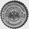 Siegelmarke K.u.K. Ersatzbataillonskader des Infanterieregiments No. 42 in Theresienstadt W0319738.jpg