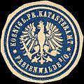 Siegelmarke Koeniglich Preussische Katasteramt - Freienwalde W0212783.jpg