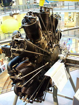 Rotary engine - A Siemens-Halske Sh.III preserved at the Technisches Museum Wien (Vienna Museum of Technology). This engine powered a number of German fighter aircraft types towards the end of World War 1