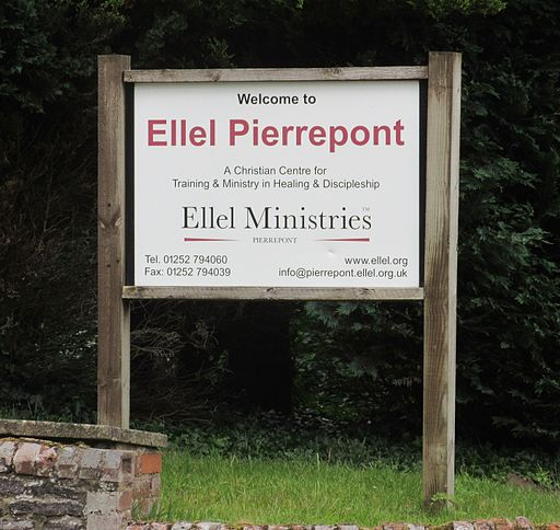 Sign at Entrance to Pierrepoint House (Ellel Ministries International), Frensham (June 2015)