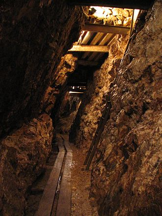 Silver mining - An underground silver mine in Baden-Württemberg, Germany