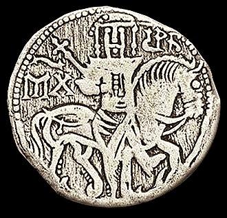 Medieval Bulgarian coinage - A silver gros 1323-1330 of Tzar Michael III Shishman Asen of Bulgaria