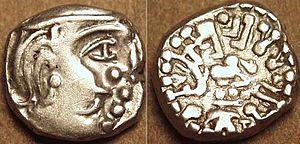 Kalachuri dynasty - Silver coin of Krishnaraja