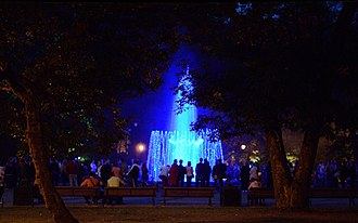 Singing fountain in Bernardinai Garden Singing fountain, Sereikiskes park, Vilnius.jpg