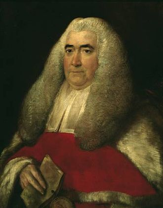 English law - Sir William Blackstone in 1774, after his appointment as a Justice of the Court of King's Bench