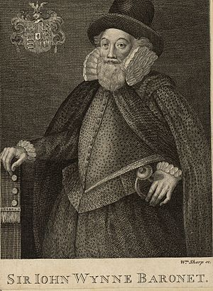 Sir John Wynn, 1st Baronet - 18th century engraving of Sir John Wynn