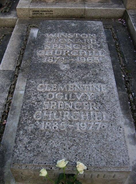 Sir Winston Churchill's Grave, Bladon - geograph.org.uk - 7116