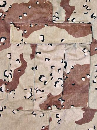 Desert Battle Dress Uniform - Closeup of Desert Battle Dress Uniform (DBDU)