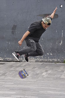kickflip skateboarding trick and ollie The kickflip is the oldest and most fundamental of all flip tricks it was invented by freestyle-skaters in the 1970's before the ollie existed.