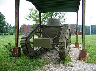 Skeleton tank - Rear of Skeleton Tank showing gearbox.