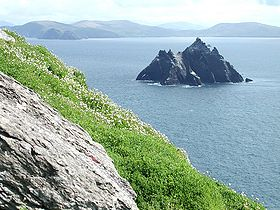 Little Skellig vue depuis Skellig Michael.