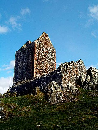 Architecture of Scotland in the Middle Ages - Smailholm Tower near Kelso in the Scottish Borders