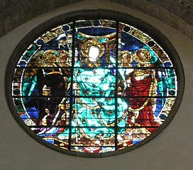 Stained glass window in San Lorenzo