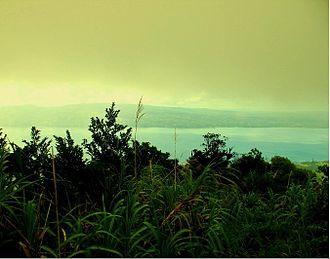 Sogod Bay - The bay as seen from Mount Patag Daku in Libagon