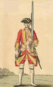 Soldier of 13th regiment 1742