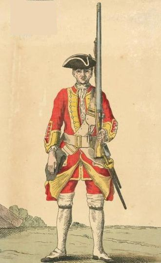 Somerset Light Infantry - Soldier of the 13th Regiment, 1742