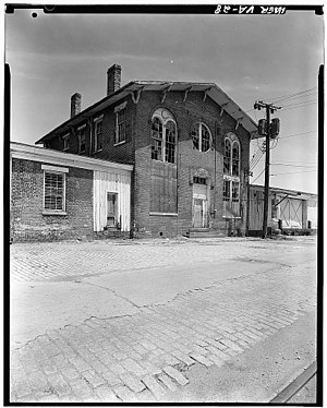 Southside Railroad (Virginia) - Image: Southside Virginia Railroad, Petersburg Freight Station, River Street, Petersburg, Petersburg, VA