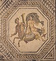 Southwest medallion of the Deities Mosaic including four medallions with a Triton and a Nereid at the Gallo-Roman Villa of Orbe-Boscéaz (Vaud, Switzerland).jpg