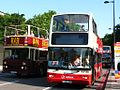 Speakers Corner - Big Bus MBO352 (E352NUV) and Arriva DLP203 (T203XBV).jpg