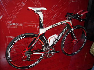 Specialized Bicycle Components - A 2008 Specialized S-Works Transition carbon Triathlon/Time Trial bike.