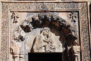 Spitakavor Monastery - Church tympanum
